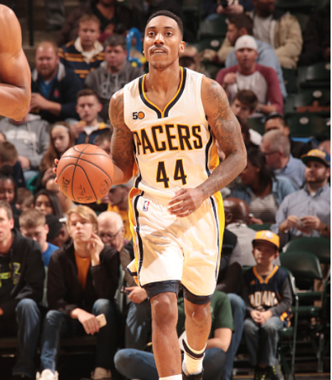 Jeff Teague didn't have the night he hoped for against his former team. (Photo by Ron Hoskins/Getty Images)