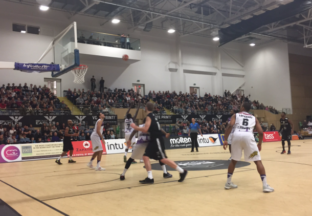Newcastle in second-half action (Photo: Newcastle Eagles/ Twitter)