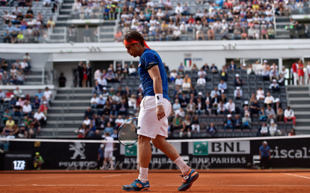 Ferrer looks on at the Rome Masters (Dennis Gombrowski/Getty Images)