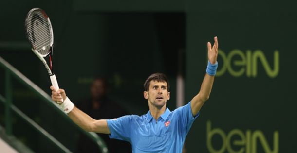 Djokovic reacts during a point (Getty Images/Anadolu Agency)