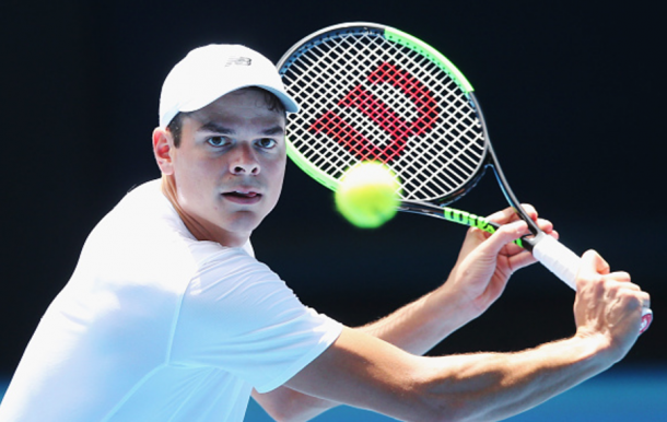 Milos Raonic looks for another semifinal run in the Australian Open, making it there last year (Michael Dodge/Getty Images)