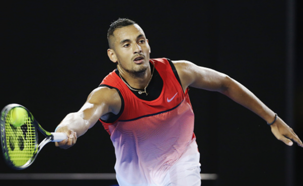 A semifinal run for Nick Kyrgios would be his best run in a Grand Slam (Michael Dodge/Getty Images)