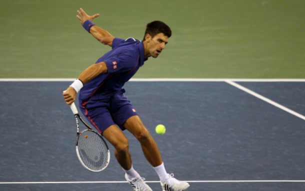 Djokovic's blue on blue still worked well with the blue courts of the US Open (Alex Trautwig/Getty Images)