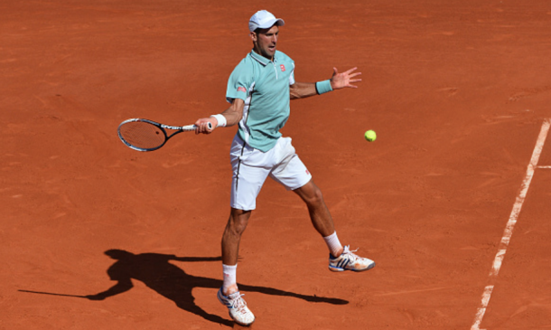 The turquoise contrasts well with the red clay of Roland Garros (Action Sport/Ilas Christian/Getty Images)