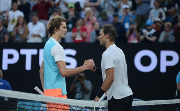 Despite being down, Nadal showed off some of his vintage form against young Alex Zverev (Anadolu Agency/Getty Images)