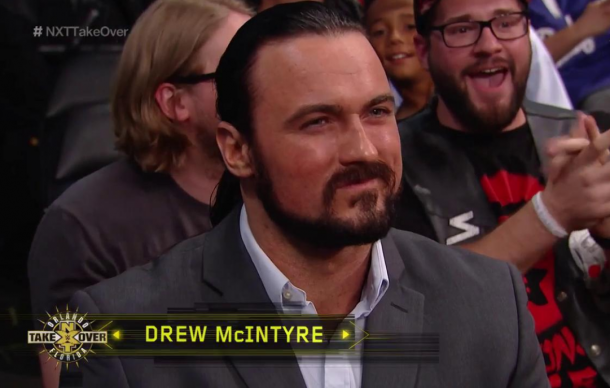 Drew Mcintre was ringside during NXT TakeOver: Orlando (image: twitter/wwenetwork)