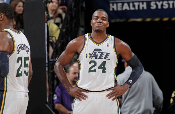 Millsap with the only other team he has played for in his career, the Utah Jazz. (Photo by Rocky Widner/Getty Images)