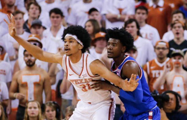 Allen battling with consensus top-5 pick Josh Jackson from Kansas. (Photo by Chris Covatta/Getty Images)