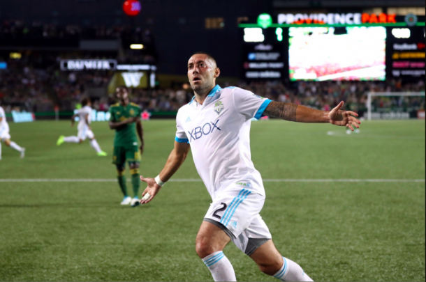 The Seattle Sounders grabbed a road point after a Clint Dempsey equalizer. (Photo: Charles Boehm - The Soccer Wire)