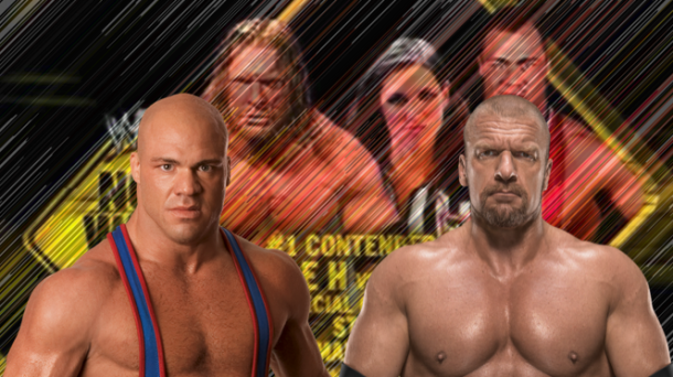 Angle could be facing Triple H once he returns to the ring (image: joel lampkin)