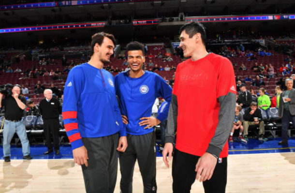 Ilyasova played for a total of three teams last season, including the 76ers. (Photo by Jesse Garrabrant/Getty Images)