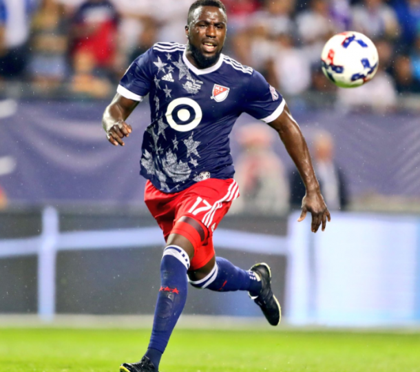Jozy Altidore runs in on a loose ball in the 2017 MLS All-Star game. | Photo: Major League Soccer
