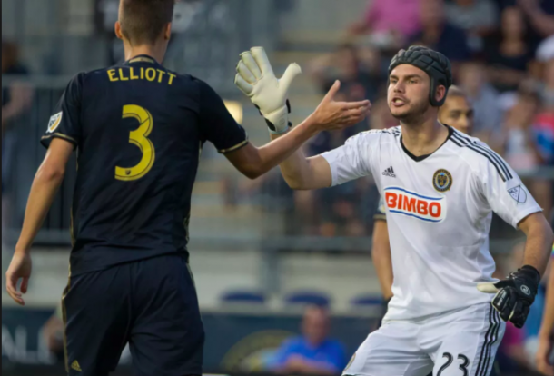 Jack Elliott and John McCarthy of the Philadelphia Union in their 3-0 win against Columbus Crew SC. | Source: USA Today Sports