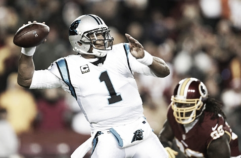 Injuries and poor protection led to Newton having one of his worst statistical years in his six-year career in 2016. (Photo courtesy of Patrick Smith / Staff via Getty Images)