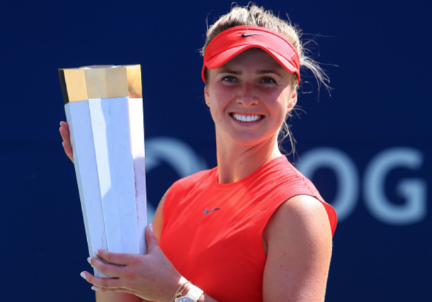 Elina Svitolina is trying to do the US hard court double which would get her to number one if results go her way (Vaughn Ridley/Getty Images)