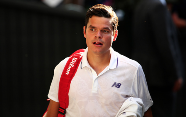 Raonic looks on at Wimbledon (Clive Brunskill/Getty Images)