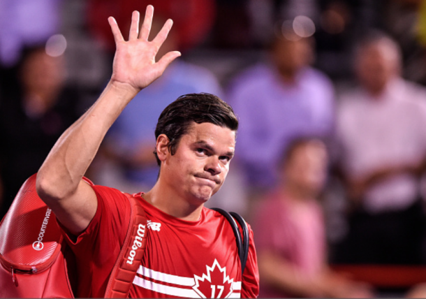 It was in Montreal that tennis fans wave to Milos Raonic for the last time this summer (Getty Images/Minos