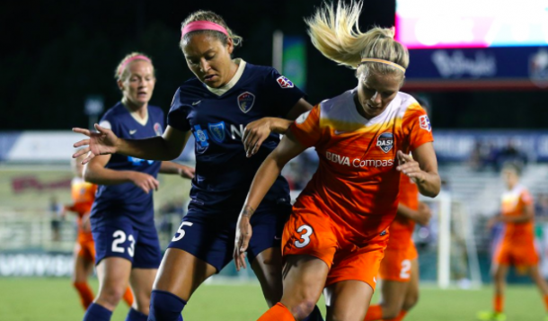 The North Carolina Courage battle for the win against the Houston Dash | Source: Houston Dash - Twitter