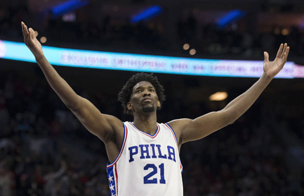 Joel Embiid could be higher on this list if he puts together a fully healthy season. (Photo by Mitchell Leff/Getty Images)