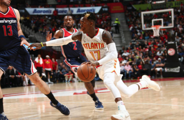 Dennis Schroder could be in for a huge season as the primary option in Atlanta. (Photo by Kevin Liles/Getty Images)