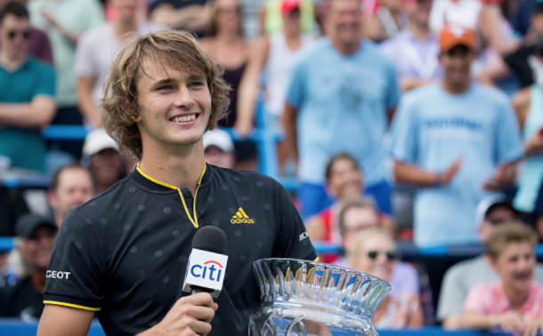 Zverev kicked off his North American hard court season with a title in DC (Taso Katopodis/Getty Images)