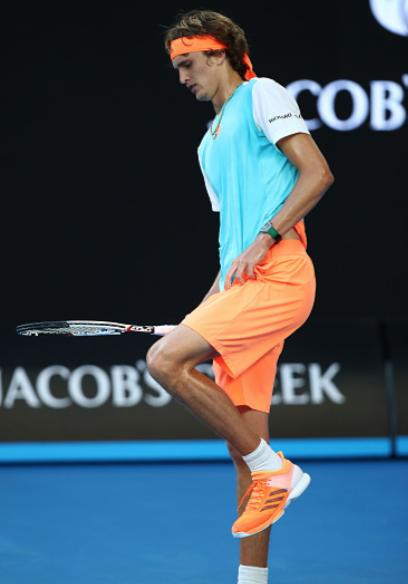 ​ Alexander Zverev struggled with cramps in the Australian Open thriller vs Rafael Nadal (Clive Brunskill/Getty Images)   Click and drag to move ​
