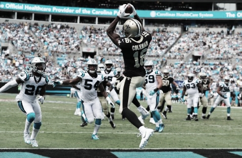 Saints receiver Brandon Coleman caught his second touchdown of the season with an 11-yard grab in the second quarter