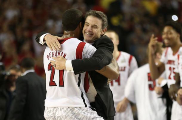 2013 provided much happier times for Pitino who coached the Cardinals to the National Championship (Andy Lyons/Getty Images)