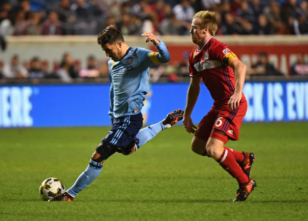 David Villa scored the equalizer late in the first half.