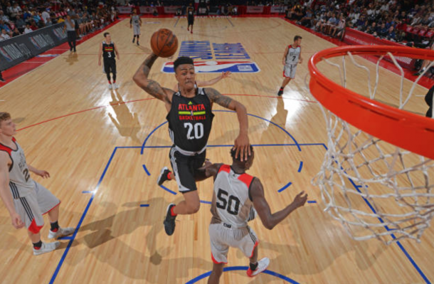John Collins was a dunking machine in the Summer League. (Photo by David Dow/Getty Images)