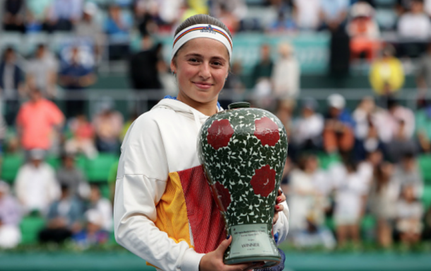 Ostapenko with her Korea Open title (Chung Sung-Jun/Getty Images)