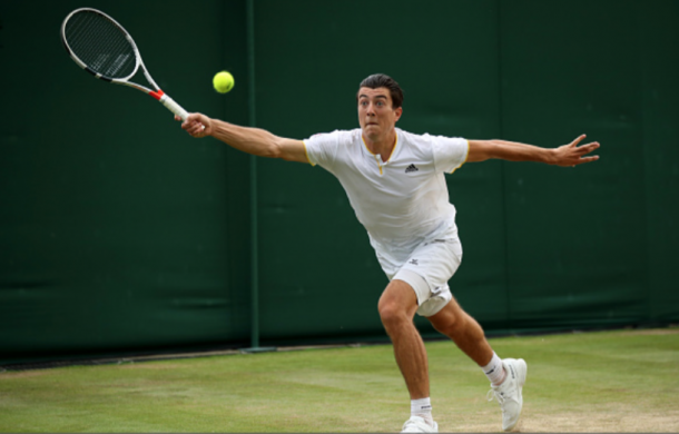 Ofner had a solid run at Wimbledon. including a win over Jack Sock (Julian Finney/Getty Images)