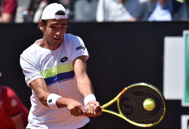 Berrettini played in the Masters 1000 event in Rome against countryman Fabio Fognini (Giuseppe Bellini/Getty Images)
