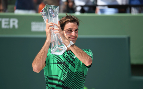 Federer captured the Miami Open title over Nadal (Ron Elkman/Sports Imagery/Getty Images)