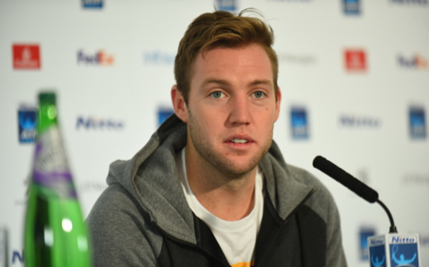 Sock during his press conference in London (NurPhoto/Getty Images)