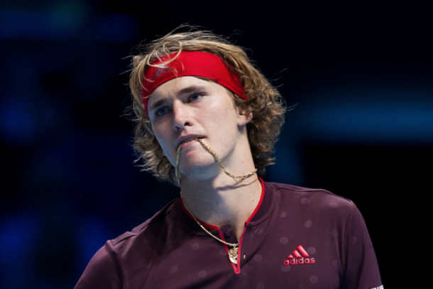 It wasn't the best final set for Zverev against Federer but he still has a chance to advance to the semifinals (Ashley Western/CameraSport/Getty Images)