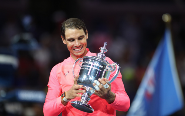 Nadal with his US Open title (Tim Clayton/Corbis/Getty Images)