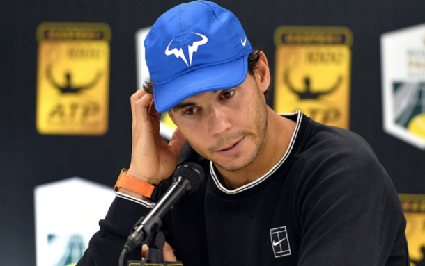 Nadal's withdrawal from the Rolex Paris Masters meant he would inevitably withdraw from the Nitto ATP Finals, and he did just that after losing to David Goffin in his opening round-robin match (Aurelien Meunier/Getty Images)