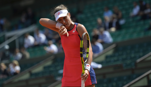 A winning percentage of 33 percent was not what Konta wanted on the clay (Aurelien Meunier/Getty Images)