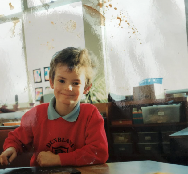 Murray selected this image of him as a little kid to express his love of the game and desire to get back out on court/Photo: Andy Murray's official Instagram account