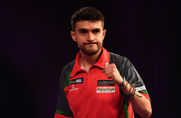 Jamie Lewis became the first preliminary round player to reach the semifinals of the World Darts Championship (Justin Setterfield/Getty Images)