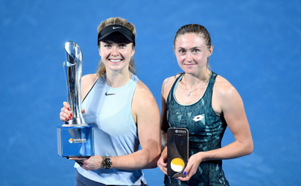 Sasnovich (right) moved up 35 spots this week in the WTA rankings while Svitolina tops the Road to Singapore standings