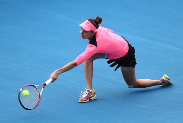 Buzarnescu's comeback in the second was just short (Robert Cianllone/Getty Images)