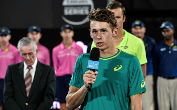 De Minaur wowed the crowds of Australia for two weeks straight (Nigel Owen/Action Plus/Getty Images)