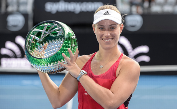 Kerber went into the Australian Open with nine straight victories under her belt (Nigel Owens/Action Plus/Getty Images)