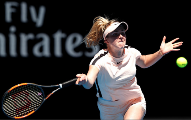 Svitolina had trouble dealing with Siniakova's go for it all game style (Michael Dodge/Getty Images)