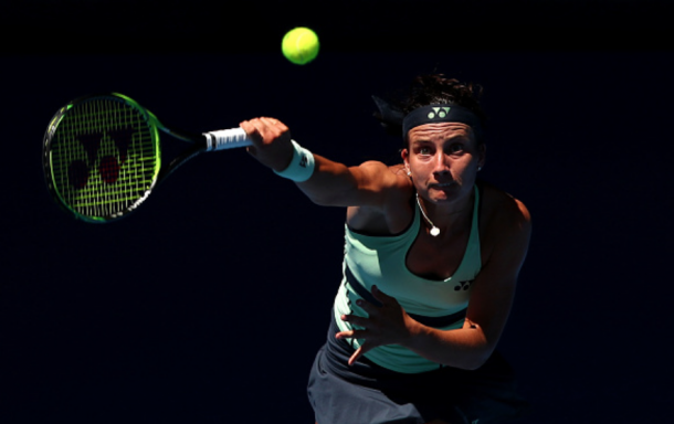 The second serve was a problem for Sevastova all match long (Cameron Spencer/Getty Images)