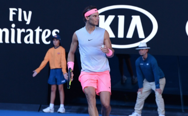 Nadal was fired up to take the opener (Anadolu Agency/Getty Images)