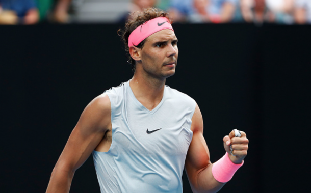 Nadal finds a way to take the first set (Michael Dodge/Getty Images)