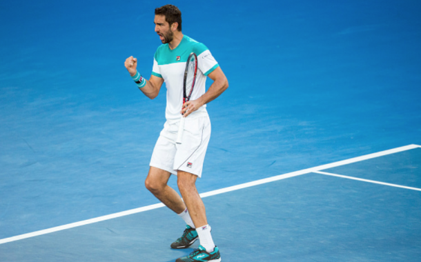 Cilic was fired up to level the match at a set all (Mark Kolbe/Getty Images)